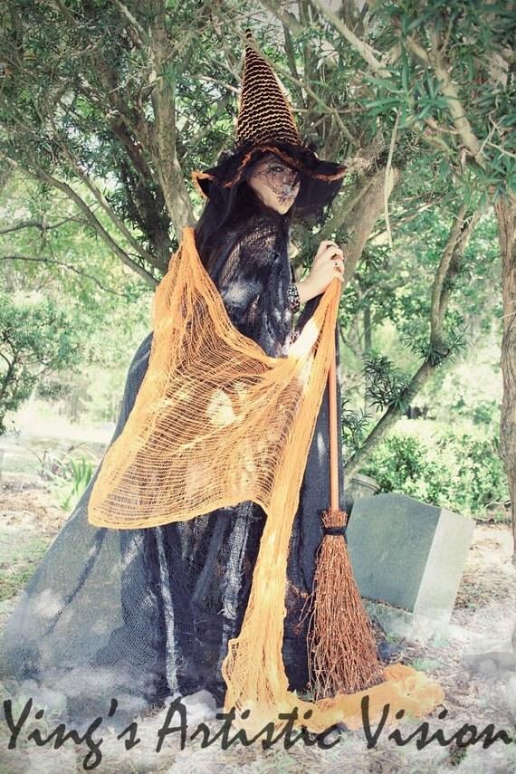 Wicked Orange Witch Cape