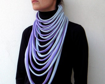 The padaung scarf - handmade with two colors - more colors available