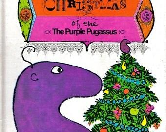 Vintage Christmas Book Childrens Purple Pugassus 1970s