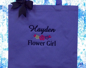 Personalized Tote Bag FLOWERGIRL Tote Bag Wedding Flower Girl Gift