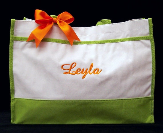 Personalized Tote Bags Bride Wedding Lime, Navy, Black, Hot Pink or Red