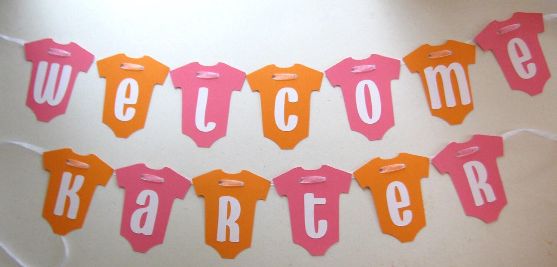 WELCOME BABY Onesie Banner for Hospital Door Decoration