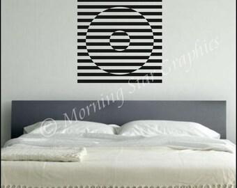 Vinyl Wall Decal OP ART Graphic (2) S-106