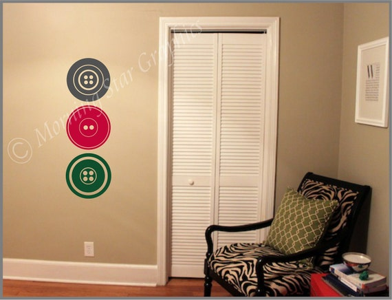 VINYL Wall Decal BUTTONS S-117
