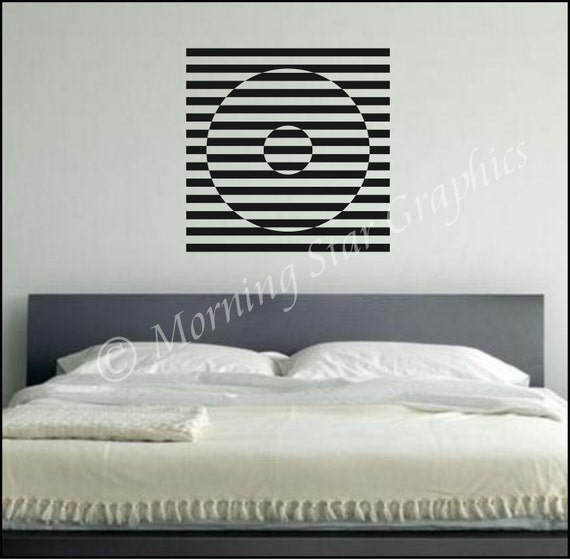 Vinyl Wall Decal OP ART Graphic (2) S-106