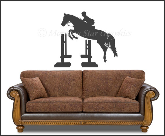 Vinyl Wall Decal HORSE JUMPING SP-105