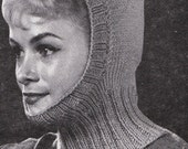 Knit Womens Balaclava 1960's Vintage Knitting PDF PATTERN