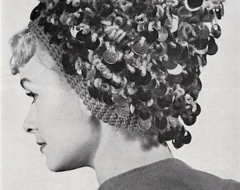 Crochet Womens Loop Stitch Hat Vintage Crocheting PDF PATTERN