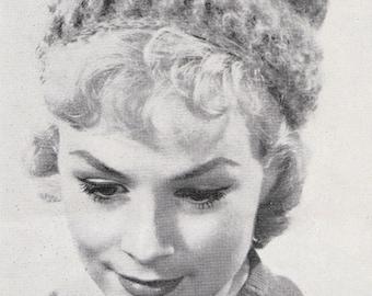 Crochet Womens Pillbox Hat 1960's Vintage Crocheting PDF PATTERN