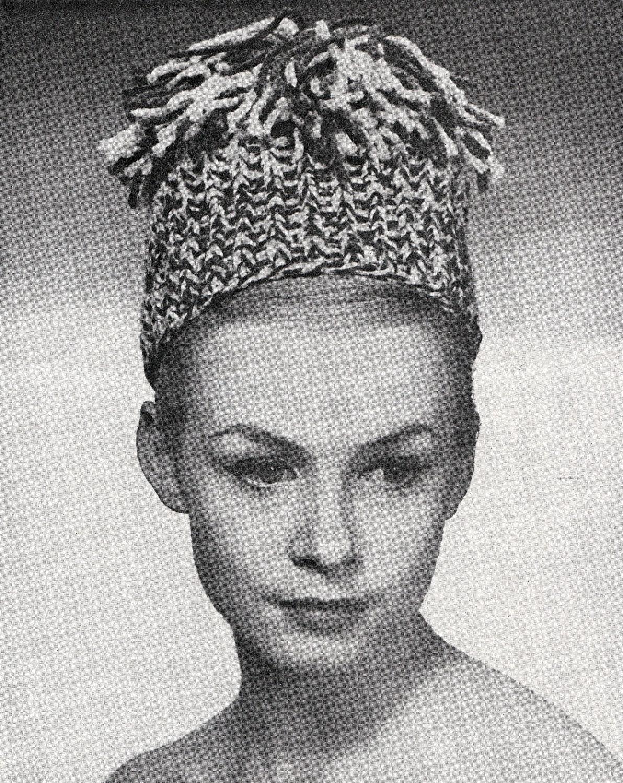 Knit Womens Pillbox Hat With Tassel Vintage Knitting PDF
