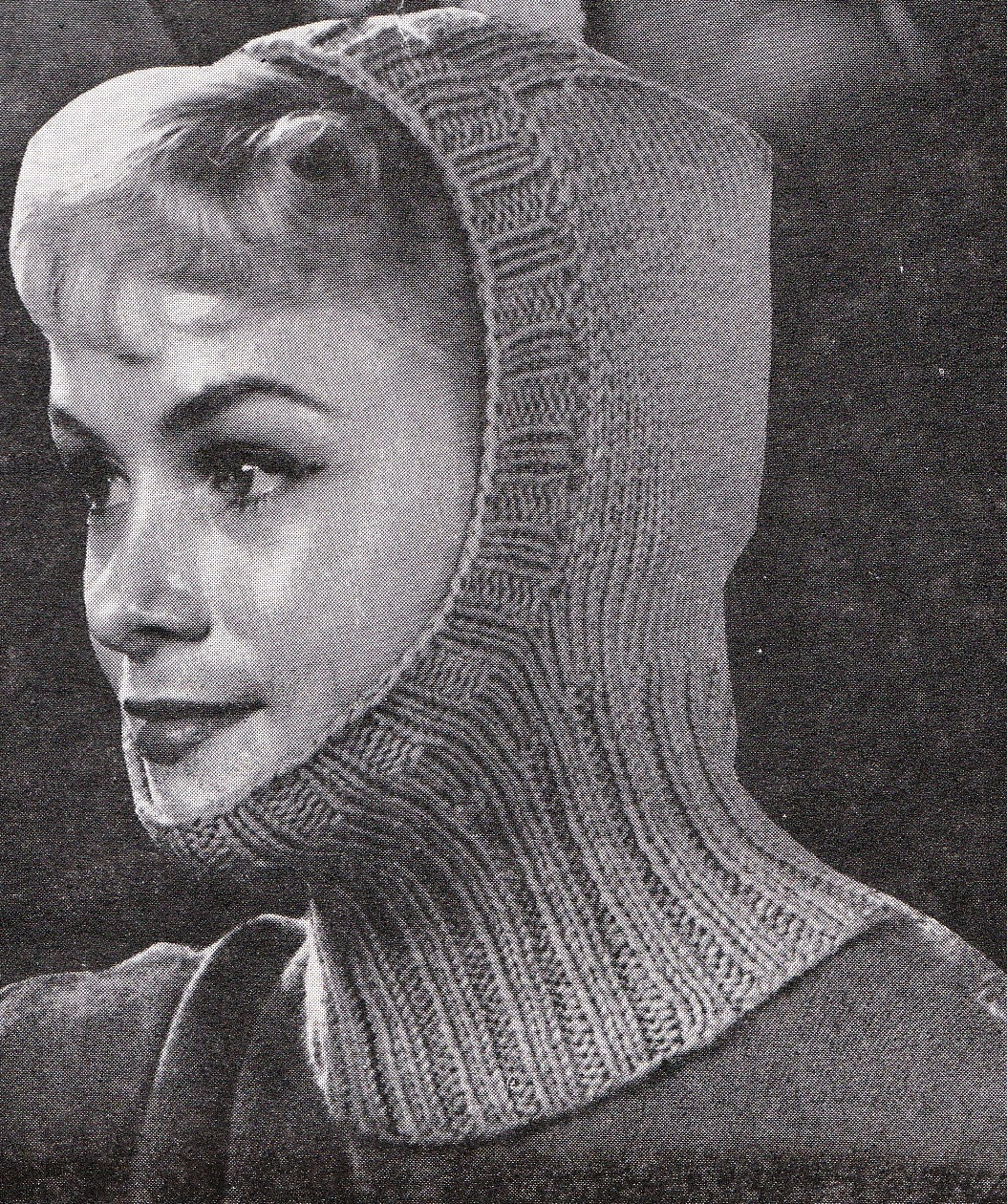 Knit womens balaclava 1960s vintage knitting pdf pattern zoom bankloansurffo Images