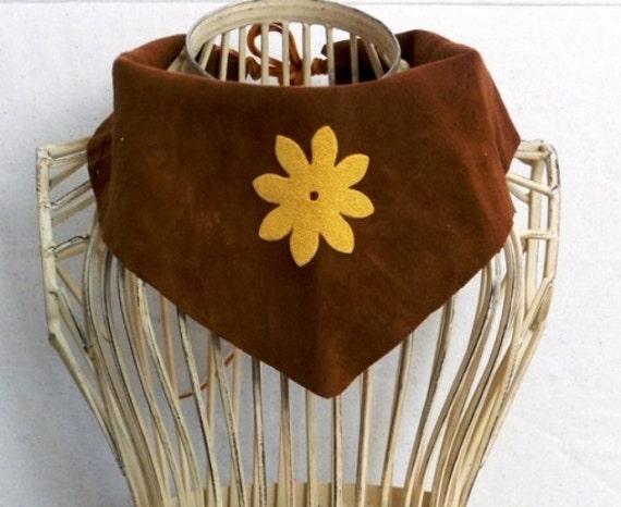 Free Shipping, Leather neckwarmer, Cowgirl neckwear, Western cowl