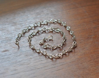 Nickel chain - 18 gauge slim - ideal for hanging smaller terrariums - terrarium chain