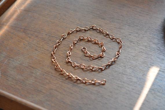 Copper chain - 18 gauge slim - ideal for hanging smaller terrariums - terrarium chain