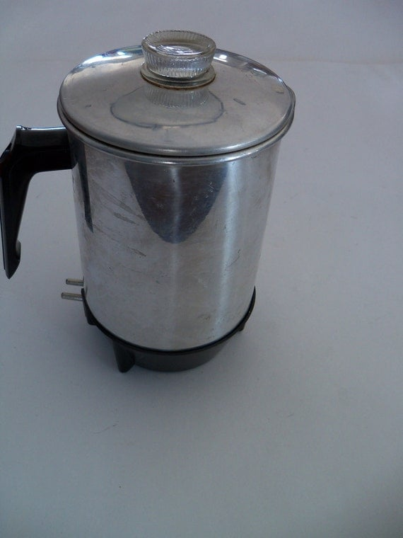 Keefe Percolator Coffee Pot Small Portable 3 Cups Electric