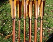 New Age Arrows, Made To Order arrow set in your draw weight and length, dozen arrows, traditional wood archery arrows