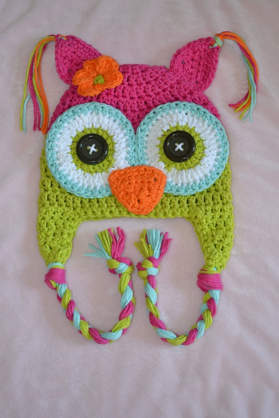 Baby Hat Animal Hat Owl Hat Crochet Owl Hat Crochet Kids Hat
