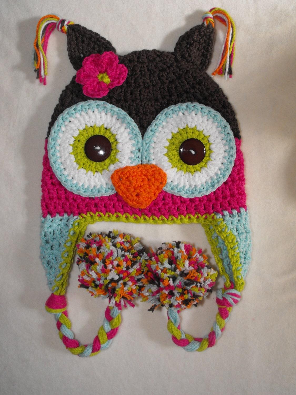 Crochet Owl Hat : owl hat baby hat crochet baby hat crochet by VioletandSassafras