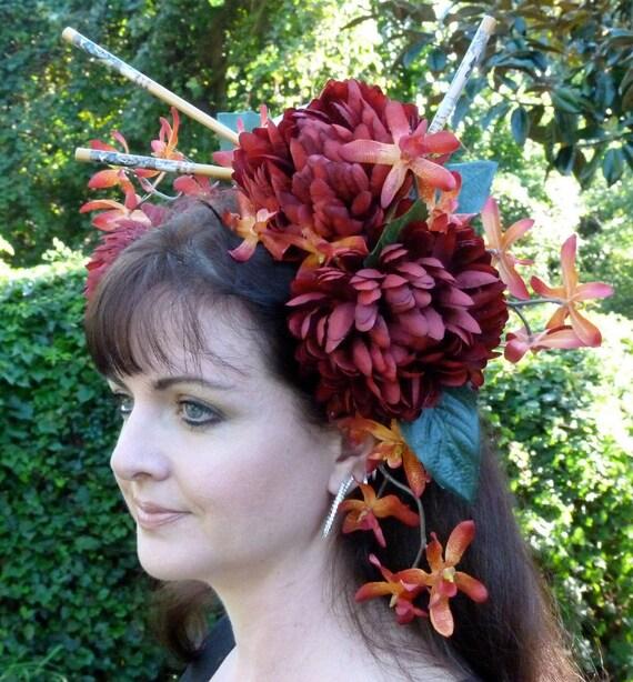 MISO HUNGRY Geisha Oriental Headdress Hair Adornment OOAK