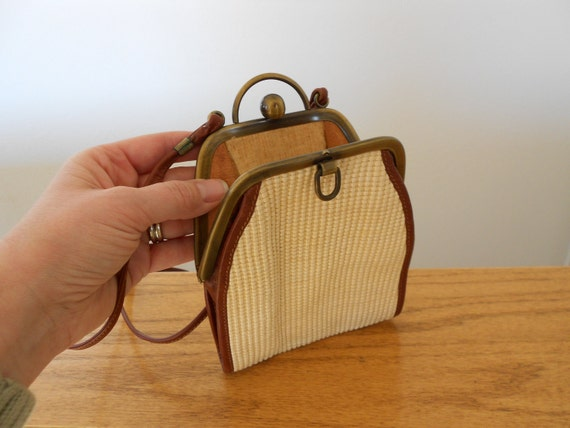 Vintage leather purse made in Italy for L. Magnin.