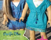 Beach Cover Up sewing pattern for 18 inch dolls like American Girl - INSTANT DOWNLOAD