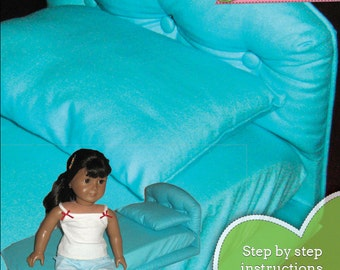 18 inch Doll Bed PDF instructions for making a bed to fit dolls like American Girl - INSTANT DOWNLOAD.