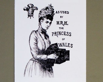 an army of light with the princess of wales--black and white 4X6 POSTCARDS
