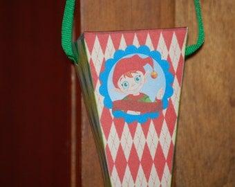 Printable Christmas Elfers Party Cone Treat Box