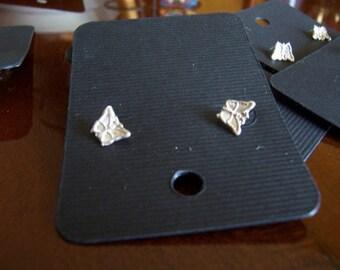 Vintage Sterling Silver Butterfly Post Earrings - D1001