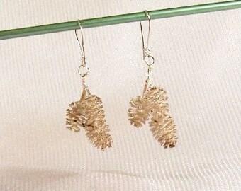Vintage Sterling Silver Earrings: Triple Cones OOAK Earrings - I1006