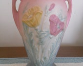 Pink Pottery Vase Antique Hull Pink Poppy Collectible SALE