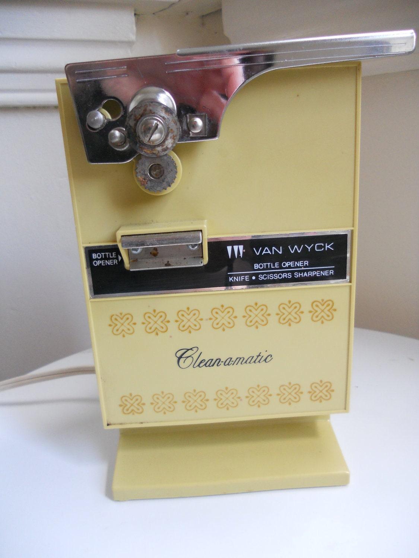 Vintage Electric Can Opener Knife Scissor Sharpener Bottle