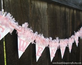 Pink Baby Shower Decorations-Sweet Baby Banner - pom pom NAME Banner - It's A Girl Banner