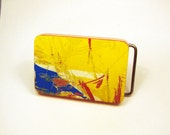 Recycled skateboard belt buckle in FREE gift box item SB64
