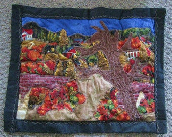 24x20 Applique Quilt, The Bright and bountiful  Harvest