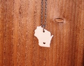Baby Wisconsin Ceramic State Pride Necklace