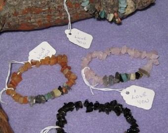 Secret Message Gemstone Bracelet ( Your own personal message) in 100% natural gemstones