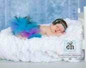 Custom Couture Peacock Tutu with Free Hair Clip/ Peacock Costume/ Peacock Photo Prop