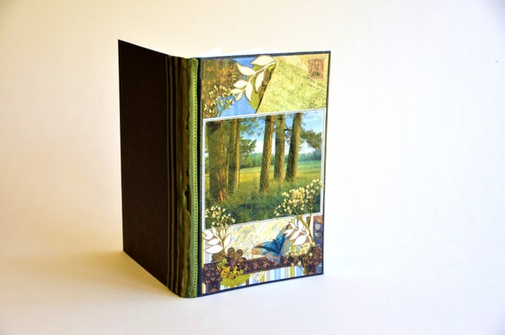journal journals Edge of the Meadow travel journal handmade journals diary memory book loves nature pressed flowers eco-friendly earth tones