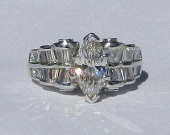 IGI Certified Natural 2.24 Carat Diamond Engagement Ring Solid Platinum