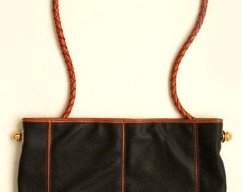 Marquesa Shoulder Bag w/ Braided Detail Made in Italy