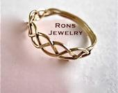 Ring 14K Gold Filled Celtic Basket Weave