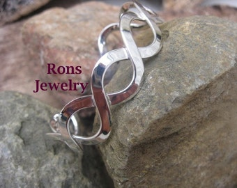 Sterling Silver, Large Celtic Figure 8 Cuff Bracelet * Special SPRING SALE PRICE *  25% off