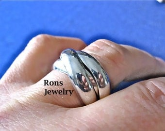 Sterling Silver, Rolling, Heavy-Wide Puzzle Ring