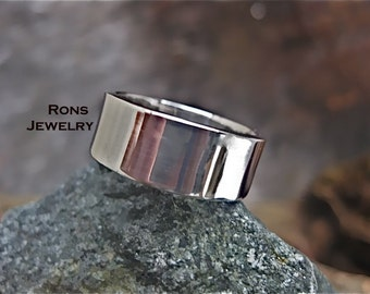 Sterling Silver, 8 mm by 2, Flat Ring
