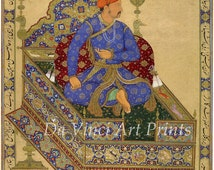 India Miniature Painting Reproduction: Prince Salim Enthroned, c.1600 - Fine Art Print