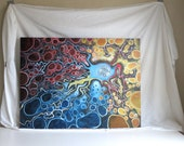 Original Large Abstract Painting, Acrylic 30x40 Primary