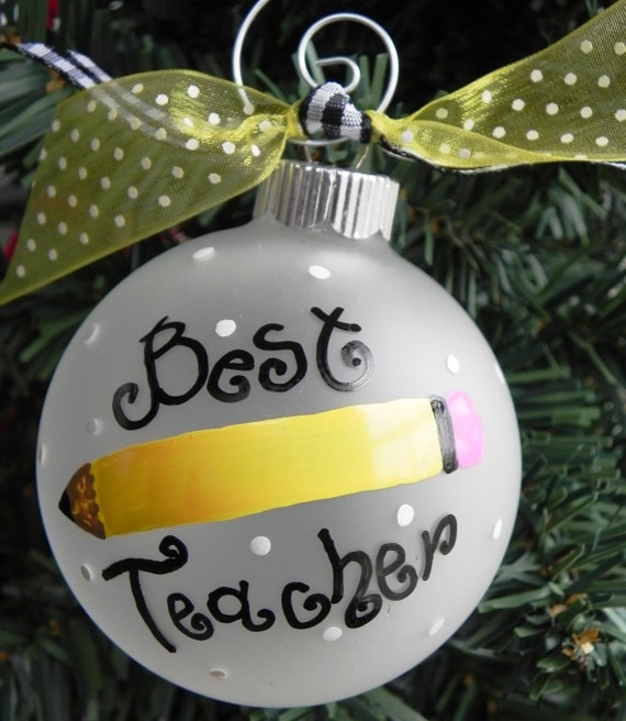 Diy Christmas Ornaments Etsy : Ready to ship teacher ornament by sassypeasdesigns on etsy