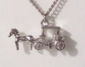 Fairytale Horse and Carriage Necklace - Great Gift Present for Her Girl Tween Teen Teenager Woman Best Seller Christmas tt team top treasury