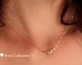 Knot Necklace 14k gold